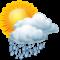 Sunny intervals with heavy rain shower