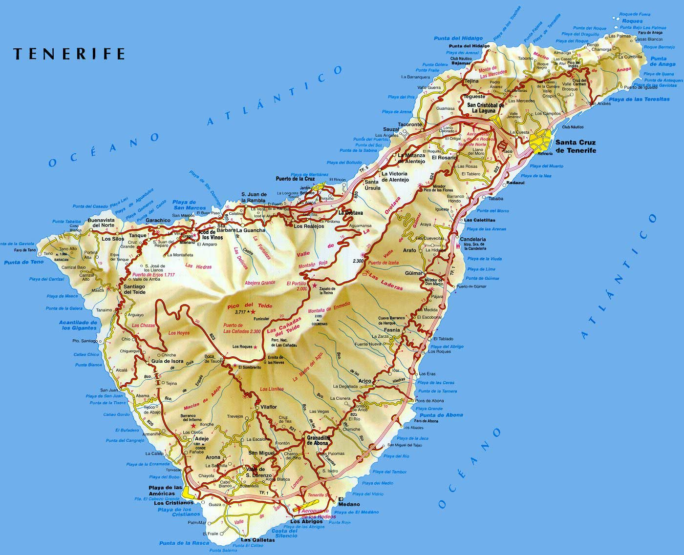 Tenerife Map Find out where you are Tenerife Guide