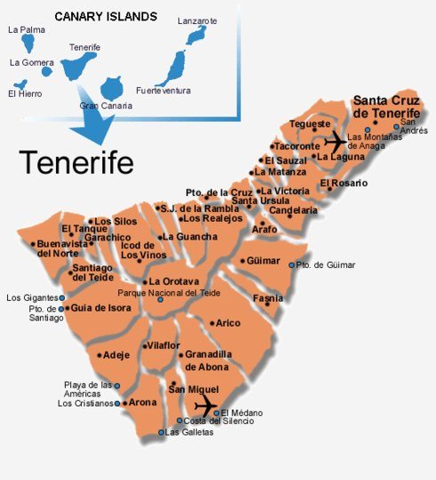 Municipalities in Tenerife
