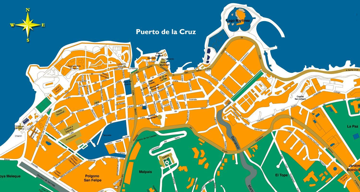 Puerto de la Cruz Map